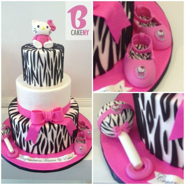 Delightful Hello Kitty Baby Shower Cake Part - 9: Love This Hello Kitty Cake