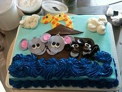 Noahs Arche-Blechkuchen, entworfen von Sam Lucero, Blue Cake, Little Rock AR   – cakes