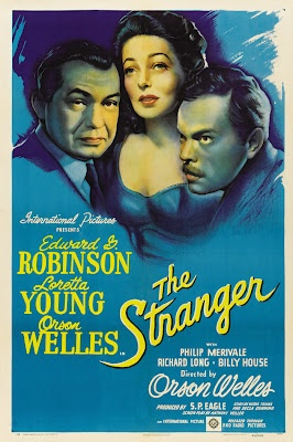 """Movie poster, """"The Stranger"""", starring Orson Welles"""