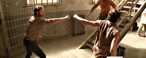 Fist Bump gif Damn it everyone rules on this show