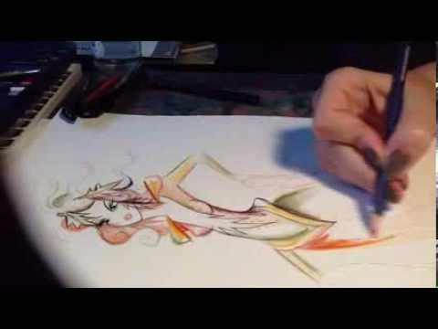 Autumn costume drawing time lapse by Gabriella Parádi - YouTube
