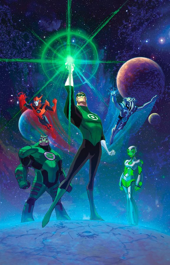 Green Lantern concept art for the animated series by Bruce Timm & Joshua Middleton