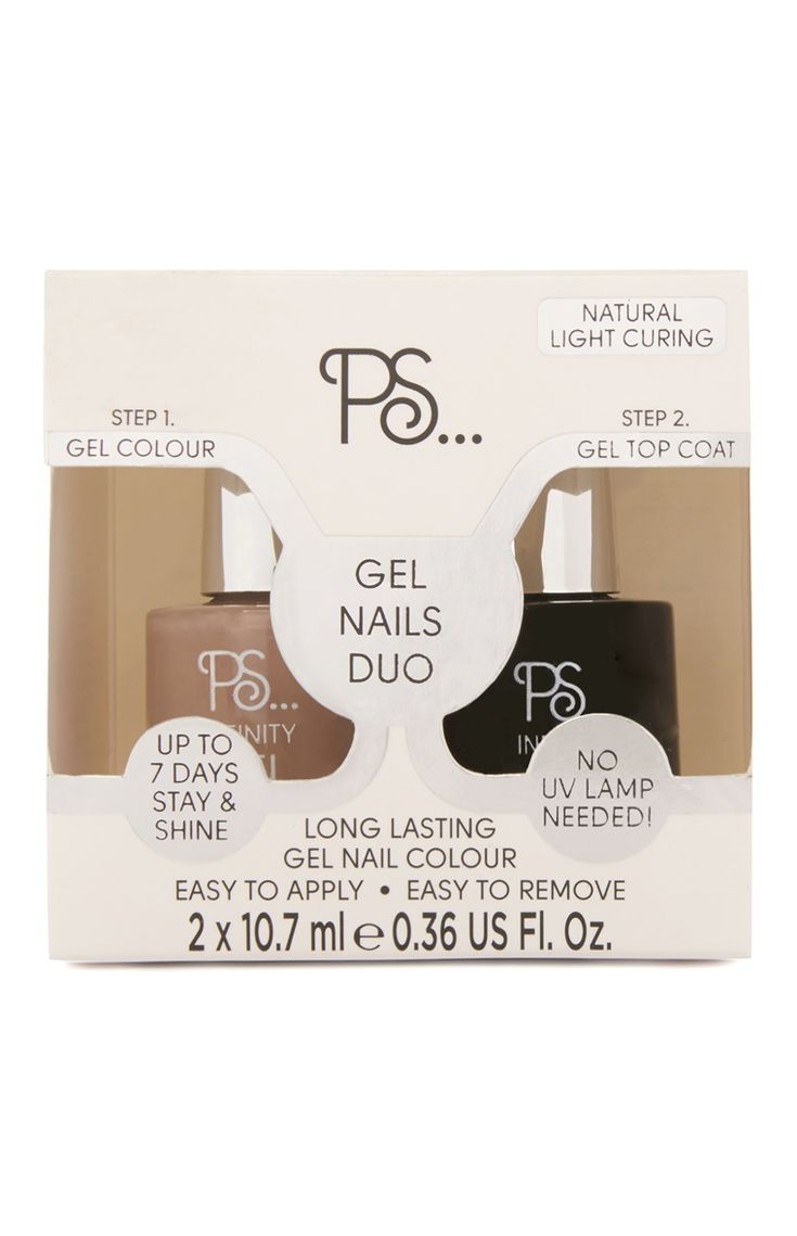 Taupe Gel Nails Duo Set