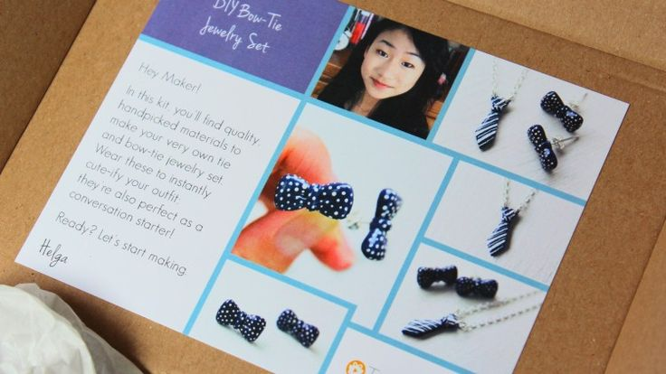 Love making crafts but want a fun, easy tutorial to follow? Helga, of PuddingFishcakes shows you step by step how to create a pair of super cute earrings and a matching tie necklace, all under 60 minutes. Try it yourself here: https://takeandmake.co/crafts/bow-tie-jewelry-set