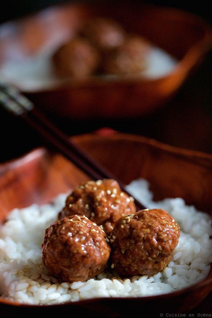 Boulettes de viande teriyaki (sans chapelure pour le régime hypotoxique)