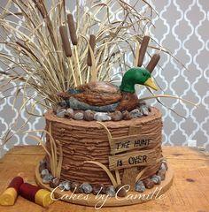 hunting theme grooms cake