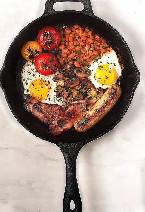 """Traditional British Breakfast aka a """"fry-up"""""""