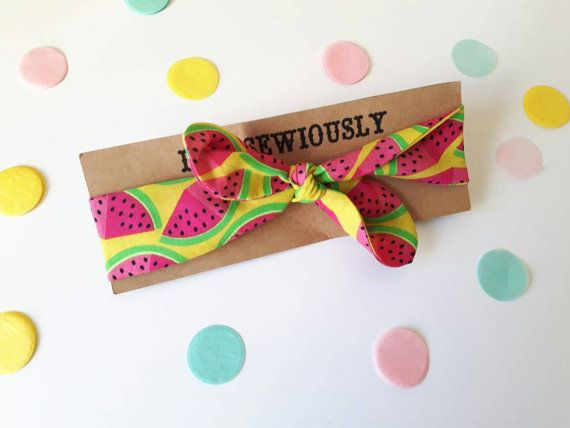 Watermelon Baby headband baby hair band baby head by LikeSewiously