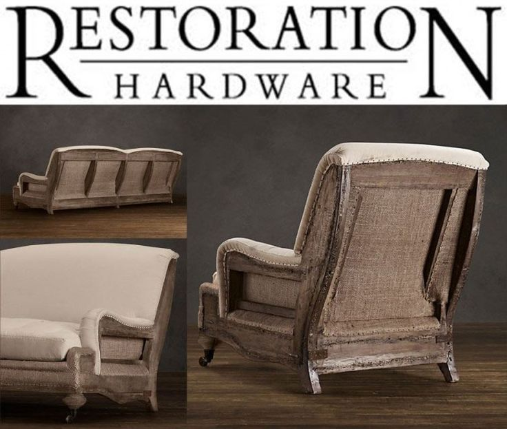 1000 images about deconstructed on pinterest shelters for Who manufactures restoration hardware furniture
