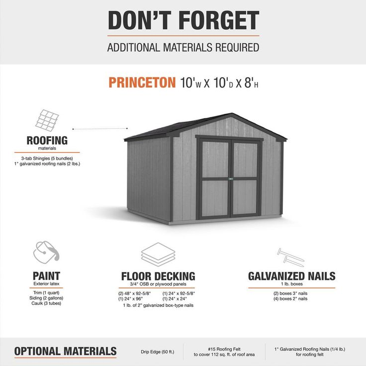 Handy Home Products Do It Yourself Princeton 10 Ft X 10 Ft Wood Storage Shed Building 18250 1 The Home Depot Wood Storage Sheds Wood Storage Shed