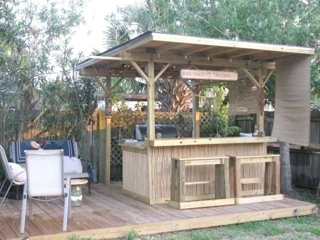 Outdoor Bar Plans With Roof