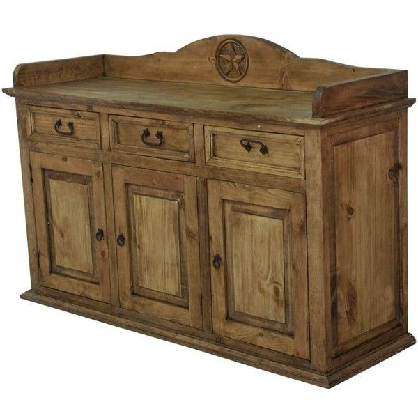 Awesome Rustic Wood Sideboard With Texas Star Carving | Rustic Pine Furniture Made  In Mexico Found On