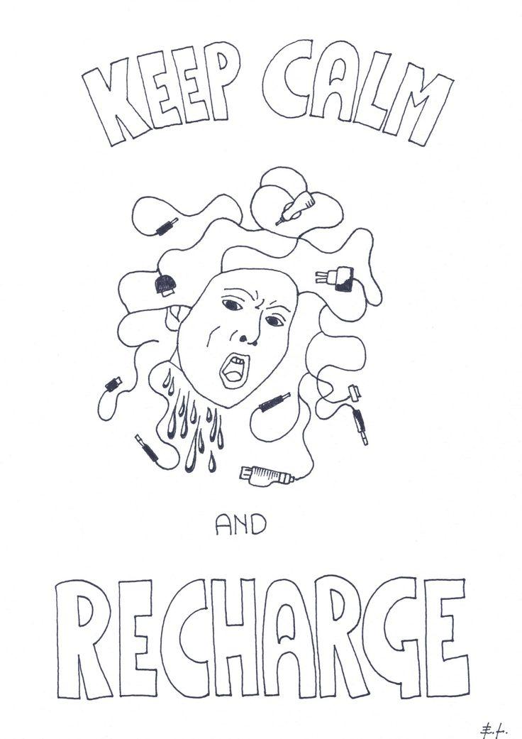 Keep calm end recharge, poster stampabile, download istantaneo, articolo digitale, home decor, arte digitale, poster, decorazione di ELdesignArt su Etsy