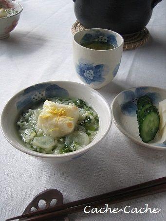 土鍋でことこと・・・焼き餅入り 七草粥♪ by カシュカシュさん ...
