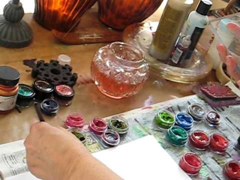 Stamping with Twinkling H2Os - Marah Johnson's DTR LuminArte Demo - YouTube