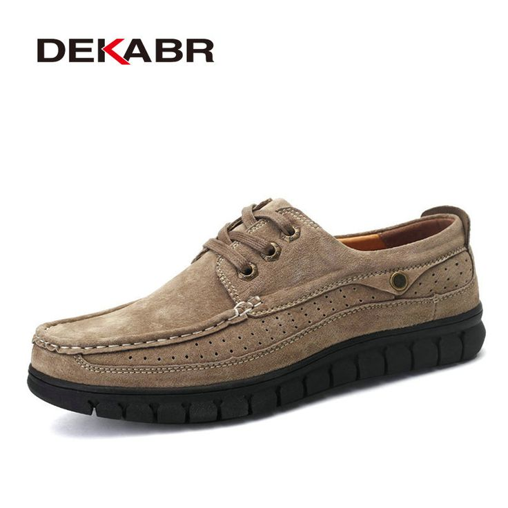 >> Click to Buy << DEKABR Men Fashion Breathable Business Shoes Men 2017 Luxury Brand Quality Scrub Handmade Moccasins For Man Soft Leather Flats #Affiliate