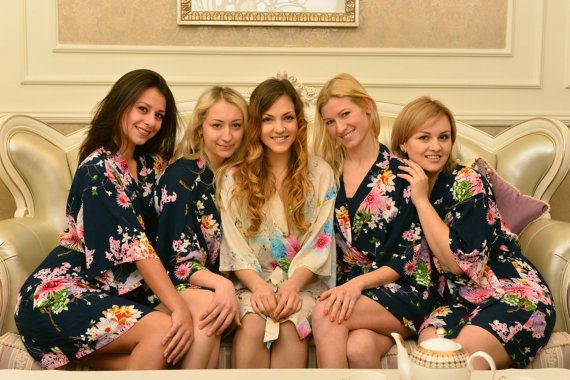 the best bridesmaid gifts cotton kimono robe monogrammed bridesmaids robes cheap…