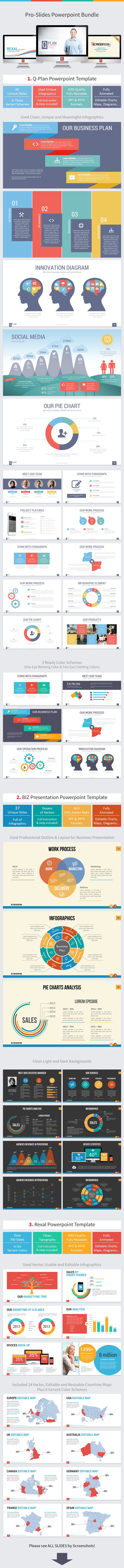 Pro-Slides Powerpoint Bundle (PowerPoint Templates) Main Live Preview #Powerpoint #Powerpoint_Template #Presentation
