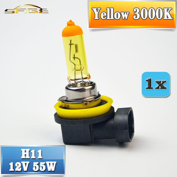 H11 Halogen Bulb 12V 55W Yellow 1 Piece PGJ19-2 3000K Quartz Glass Car Fog Light Auto Lamp //Price: $5.00      #instagood
