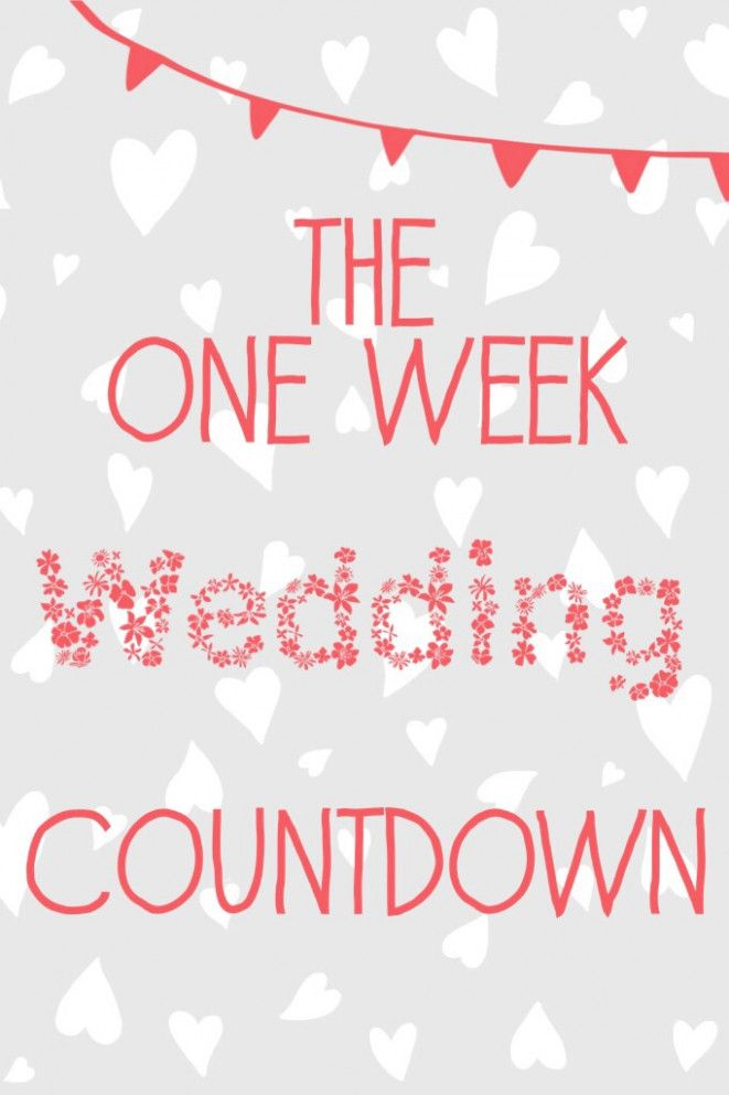 Wedding Day Countdown The Bride Dad Wedding Countdown Wedding