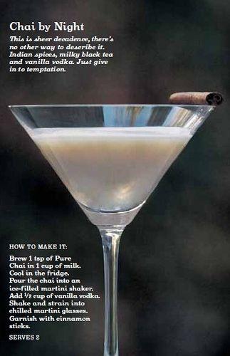 David's Tea Chai by Night Martini