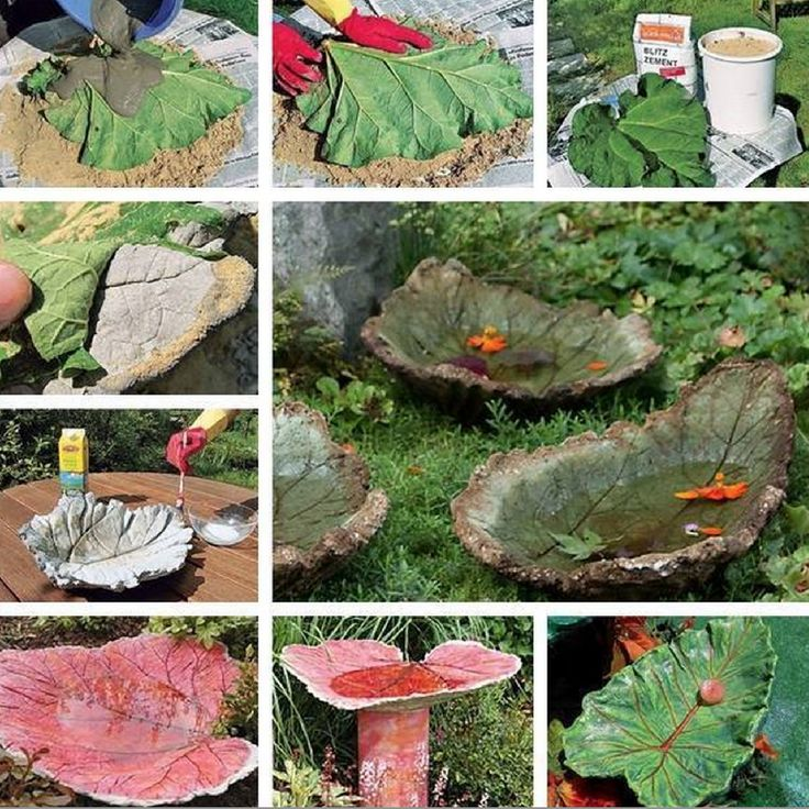 You'll love to make this fabulous Stone Leaf Bird Bath.  Get the details now.