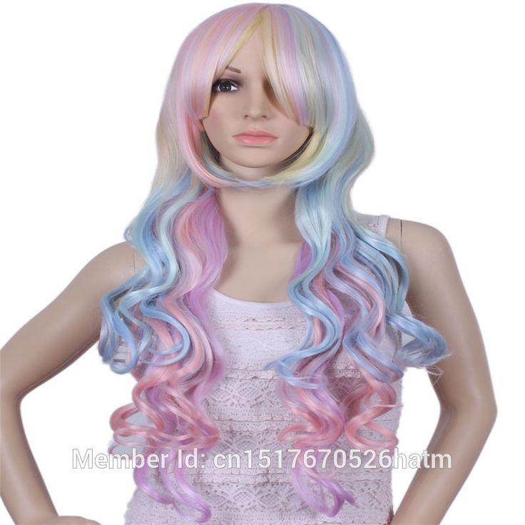 Купить товарЖенская Парик Длинные Вьющиеся Волосы, Жаропрочных Парики…