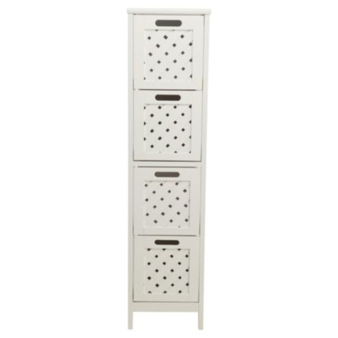 Buy Sheringham White Wood 4 Drawer Tower Cabinet from our Bathroom Cabinets range - Tesco.com