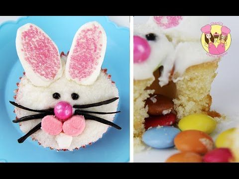 EASTER BUNNY PINATA CUPCAKE with a surprise inside
