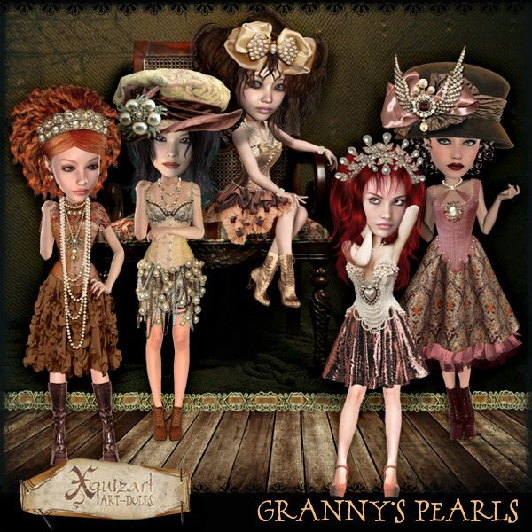 Deviant Scrap :: What's New :: Granny's Pearls Art-dolls