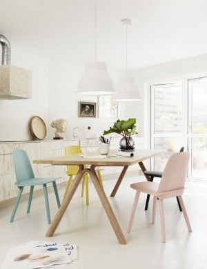 Split table with Nerd chairs from Muuto