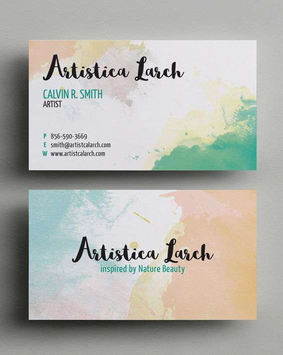 Modern Business cards nowadays like to have designs inspired by calligraphy