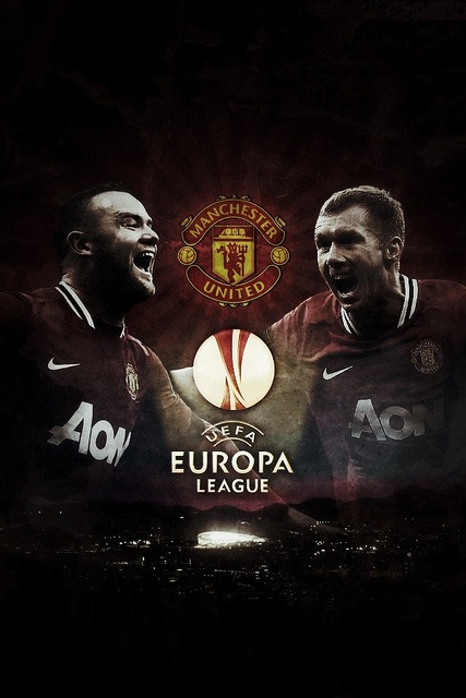 Manchester United iPhone Wallpaper UEFA Europa League ver.