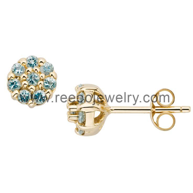 925 silver stud earring E030 www.reeoojewelry.com