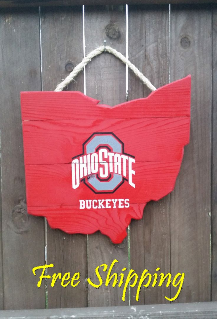 4327 best ohio state images on pinterest ohio state university rustic ohio state university ohio shaped sign doorwall hanging by oldschooldesign on etsy amipublicfo Image collections