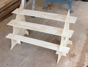 Craft display risers – pack away flat & slot together within 60 seconds.