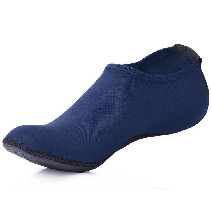 MWSC Summer New Men Water Shoes Aqua Slippers for Beach Slip On Waterpark Sandals Sandalias Mujer Slides Navy Blue #WaterShoes