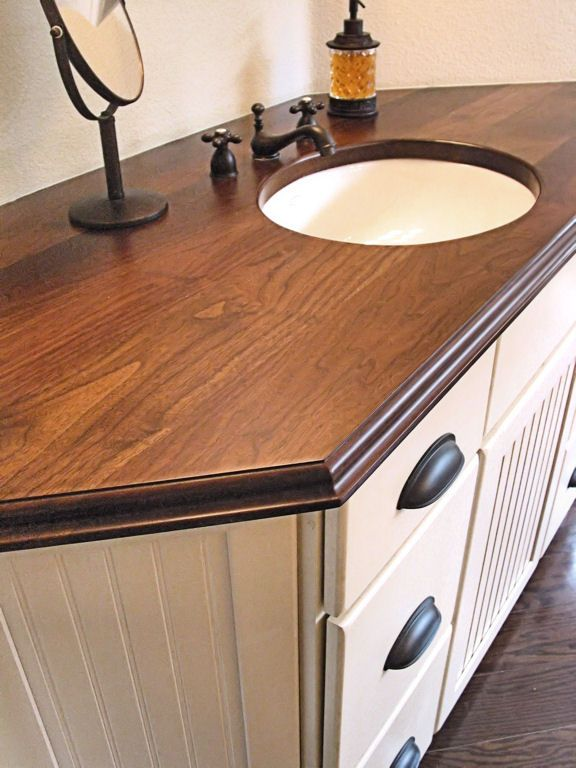 Find This Pin And More On Bathroom. Photos Of Custom Wood Countertops ...