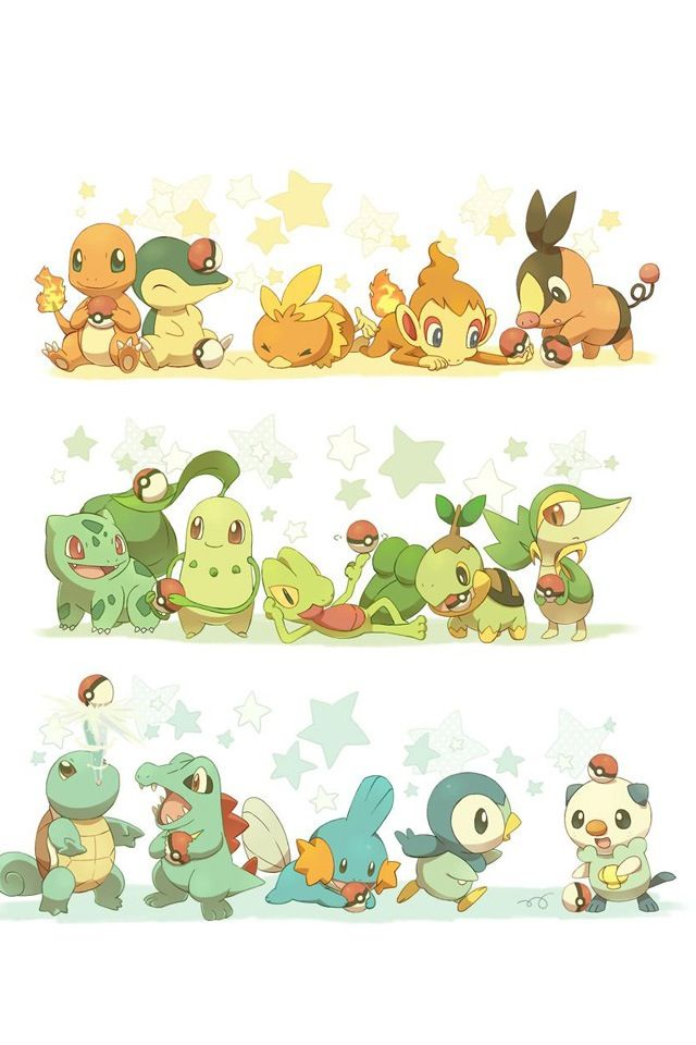 Starter Pokemon Wallpaper Iphone