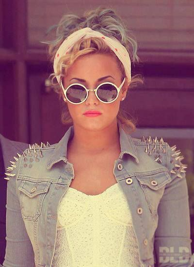 Demi Lovato's style is the best!! Love the spiked jacket.