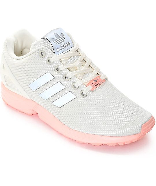 Runner inspired, the adidas ZX Flux White and Pink Shoes are a fantastic pair of kicks perfect for running and other athletic activities. Versatile yet clean cut, the shoes are made from a breathable mesh upper and liner with welded TPU 3-Stripes on the s