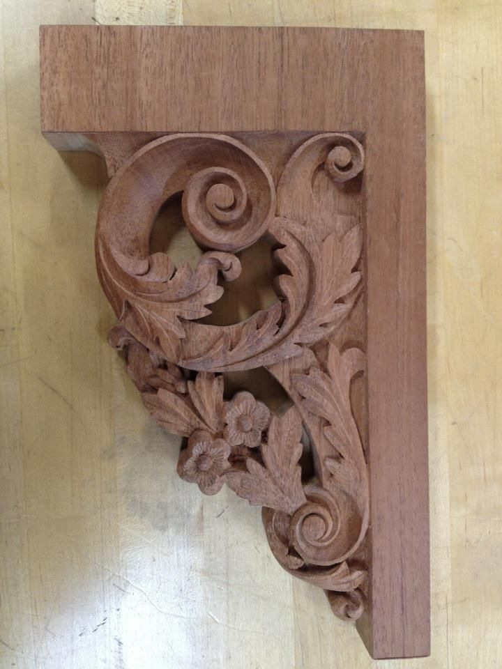 Completed Stair Bracket by Ted Boscana, Joiner's Shop. from Anthony Hay's…