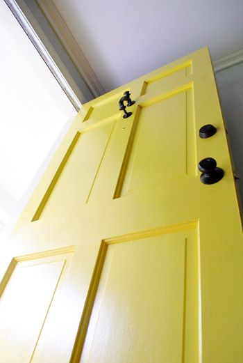 Very detailed step-by-step instructions for painting front door. Best primer, paint, brushes,