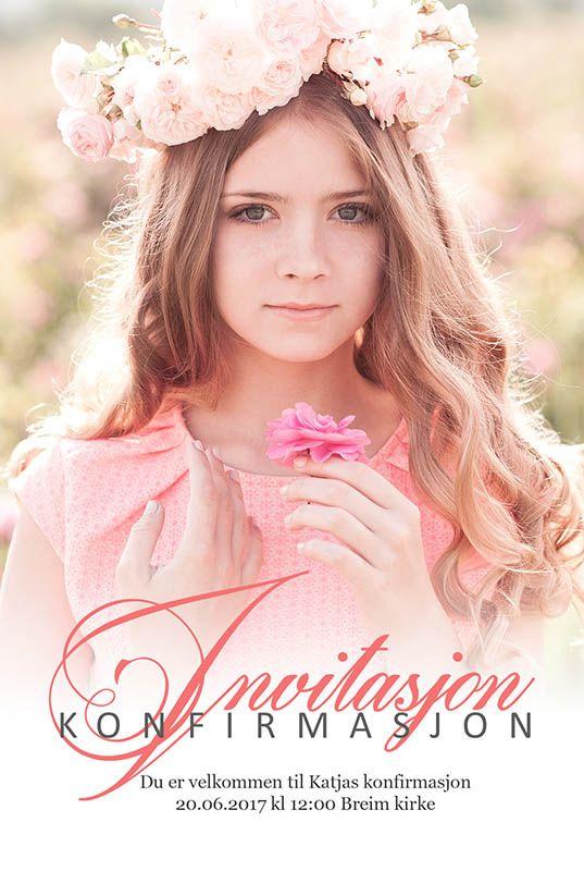Fotokort: invitasjon konfirmasjon. http://eurofoto.no/produkter/kort-og-skrivesaker/