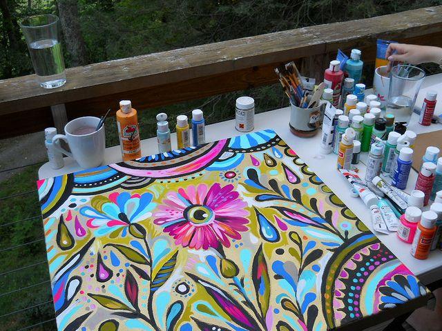Flower canvas By @Katie Hrubec Daisy