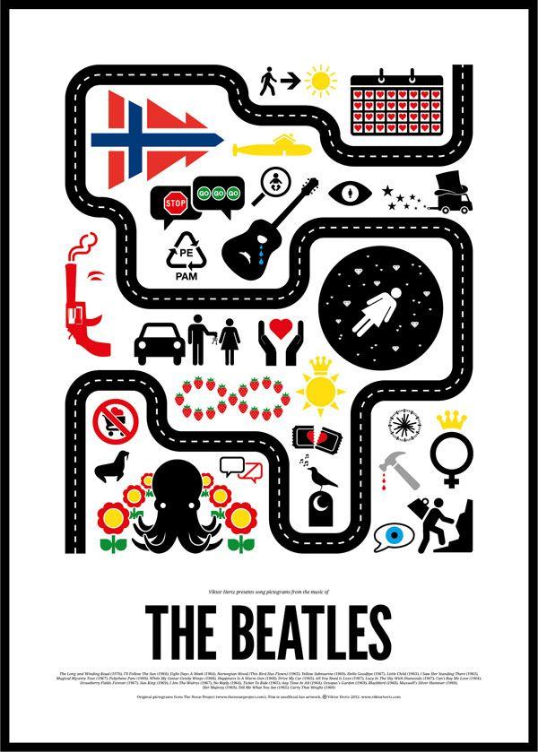 The Beatles rock pictogram