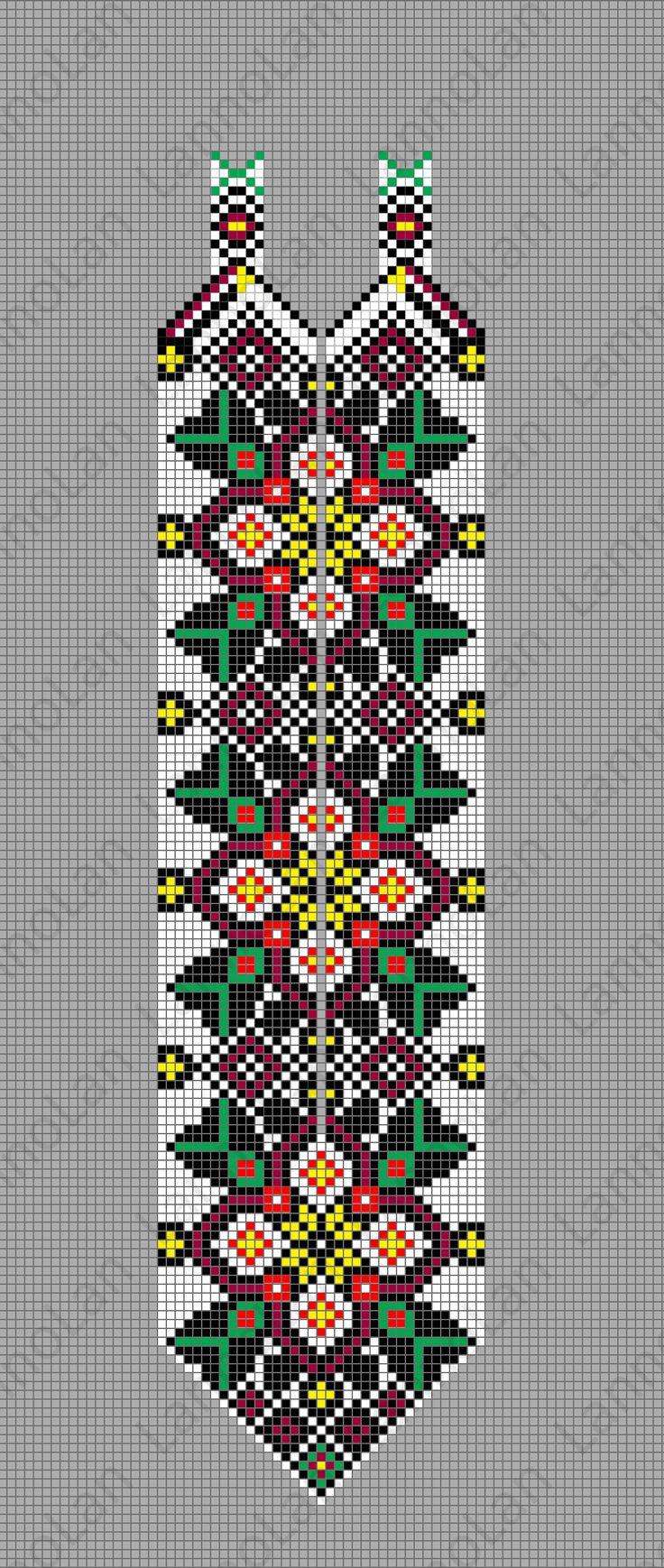 UA pattern - loom - beads ... inspired by: http://biser.info/node/465693