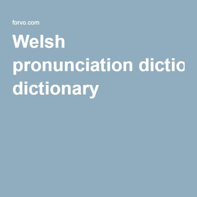 Welsh pronunciation dictionary