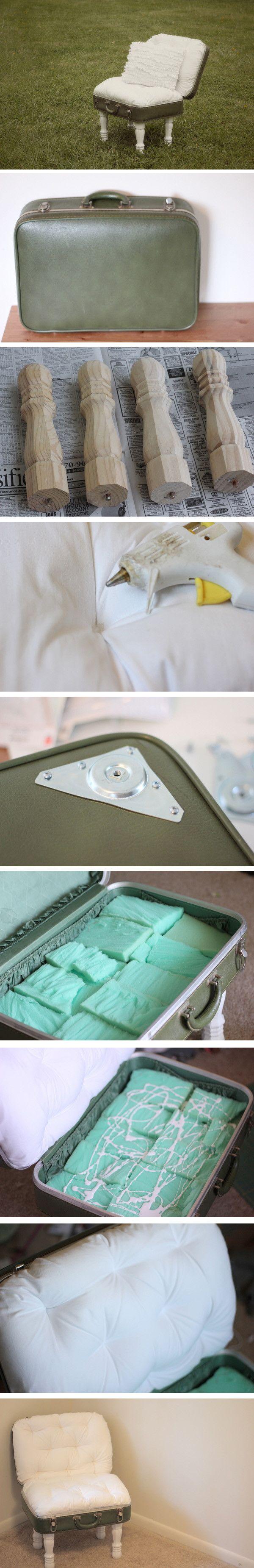 DIY Vintage Suitcase chair | DIY Creative Ideas