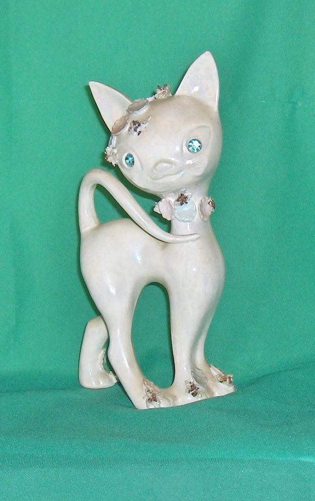 Large Unusual  Decorative Cat Figurine